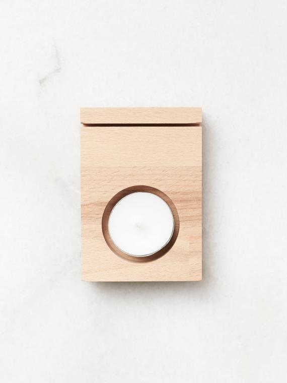 houten kaarthouder waxinelichtje gewoon jip
