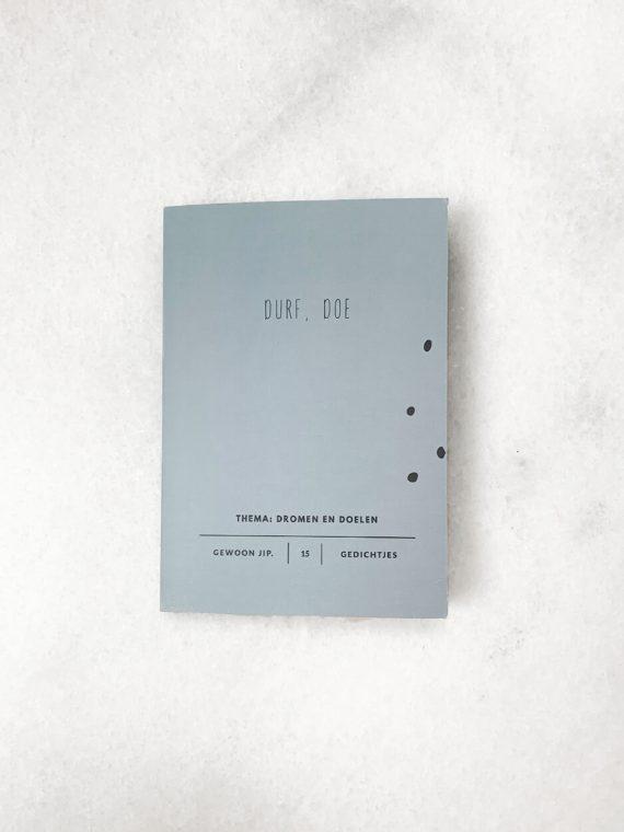Boekje 15 uitscheurbare ansichtkaarten – durf doe