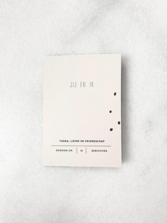 boekje 15 uitscheurbare ansichtkaarten jij en ik