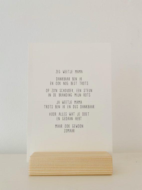 houten kaartenhouder