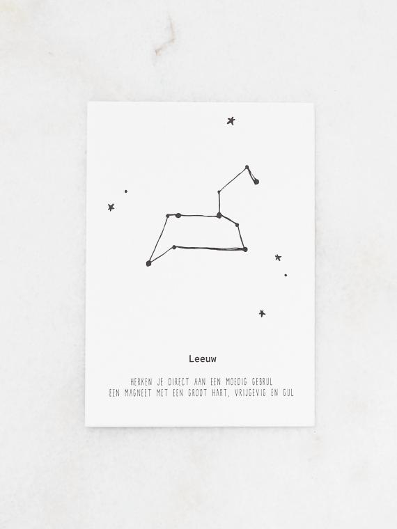 Leeuw letterpers A5
