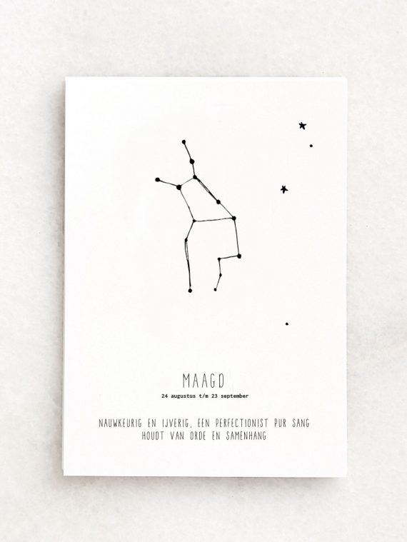 MAAGD sterrenbeeld poster