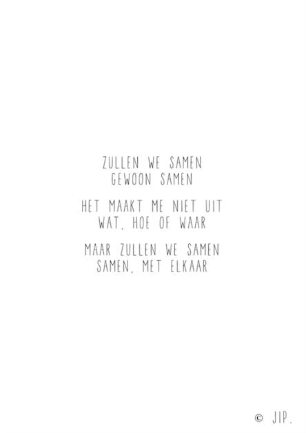 zullen we samen