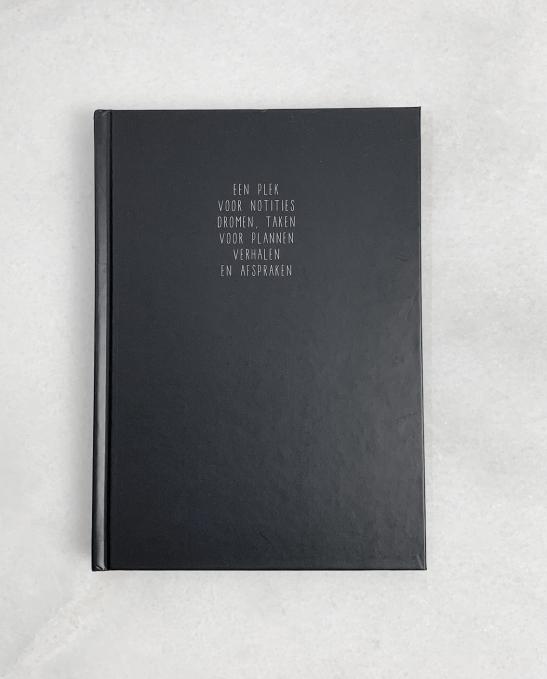 Hardcover notitieboek blauw