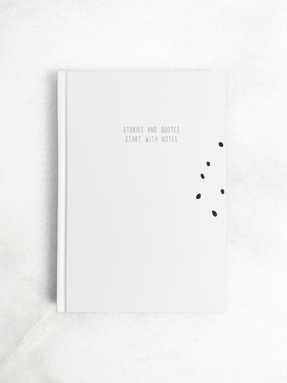 Hardcover notitieboek wit stories