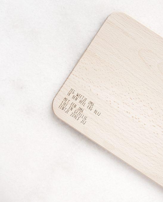 Zeg weetje oma plank product